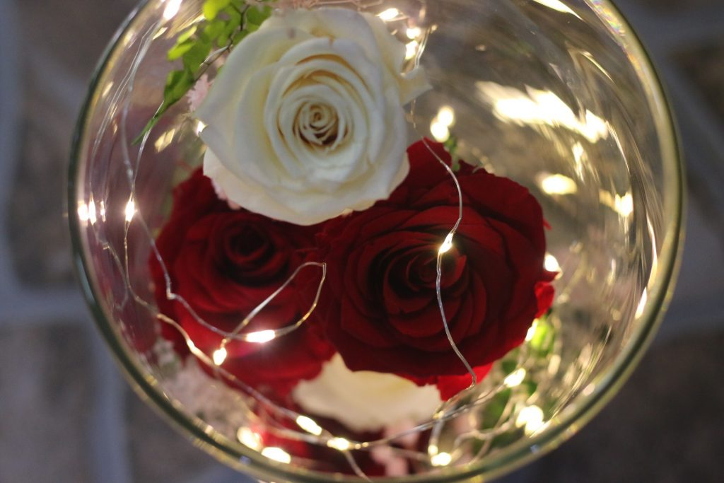 lọ hoa hồng khô đẹp
