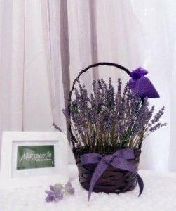 Giỏ hoa lavender khô 01