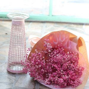 set hoa baby và lọ thủy tinh